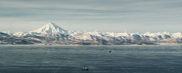 Panoramic view of Viliuchinsky Volcano. Krasheninnikova Bay  Stock photo © amok