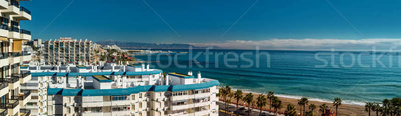 Beautiful panoramic view of Benalmadena, Spain Stock photo © amok