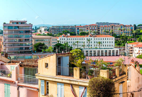 Panoramic view of Cannes city, France Stock photo © amok