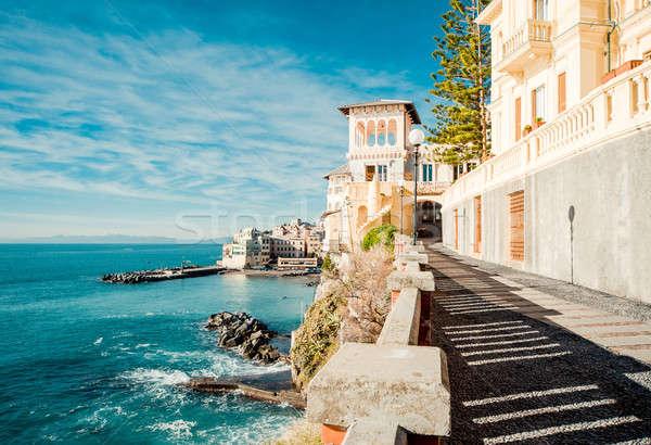 Vista antigua pesca pueblo Italia playa Foto stock © amok
