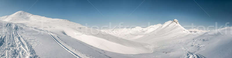Pinachevsky pass, route through a ridge in Kamchatka Stock photo © amok