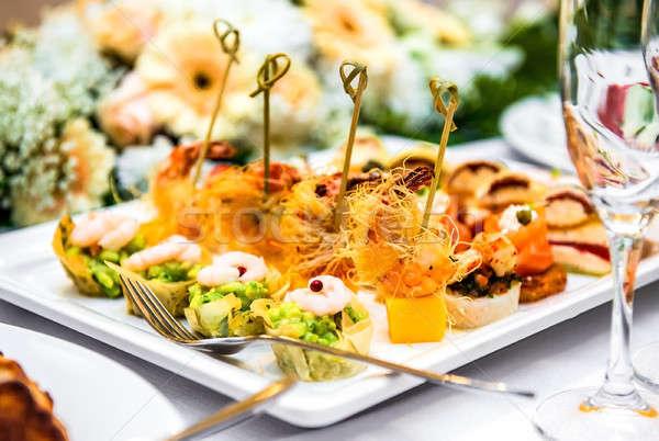 Lezzetli meze parti peynir et Stok fotoğraf © amok