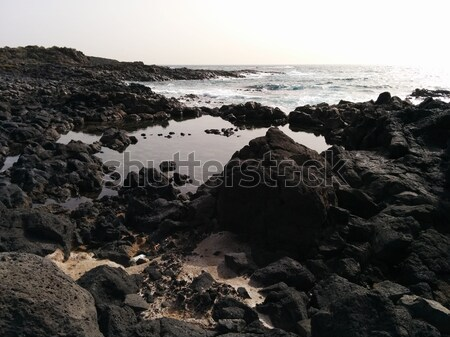 Ocean and stones.Tenerife, Canary Islands Stock photo © amok