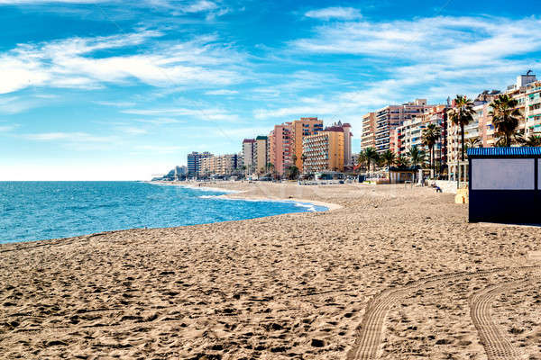 пляж малага Испания природы красоту зданий Сток-фото © amok
