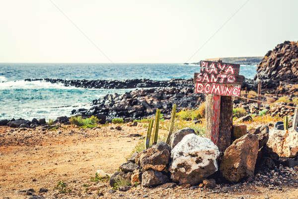 Praia tenerife canárias Espanha céu natureza Foto stock © amok