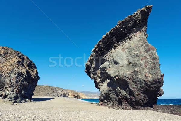 Picturesque Playa de Los Muertos. Spain Stock photo © amok