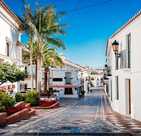 Picturesque street of Rancho Domingo. Spain Stock photo © amok