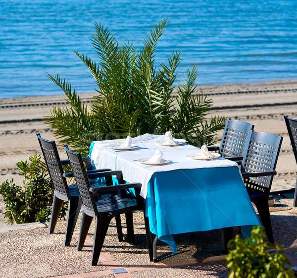 屋外 レストラン ラ スペイン ビーチ ストックフォト © amok