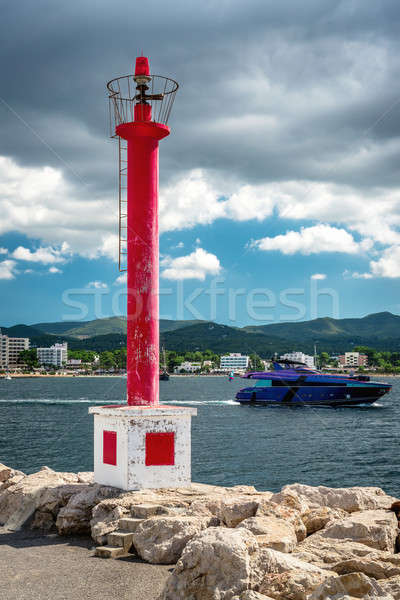 Lighthouse at the San Antonio de Portmany coast. Balearic Islands Stock photo © amok
