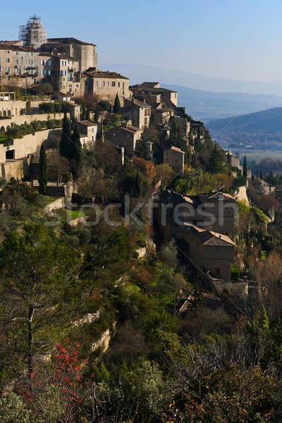View to the Gordes village in France Stock photo © amok