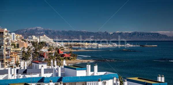 Beautiful view of Benalmadena coast. Malaga, Spain Stock photo © amok