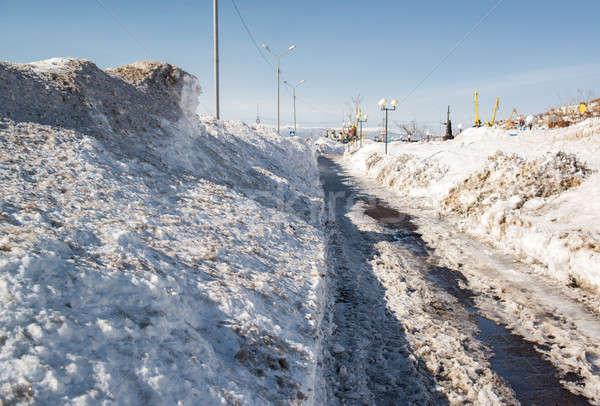 Snowy seafront of Petropavlovsk-Kamchatsky, Kamchatka. Russia Stock photo © amok
