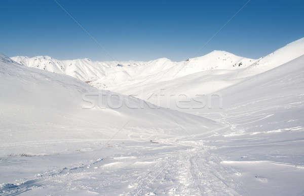 Stock photo: Pinachevsky pass, route through a ridge in Kamchatka. Russia