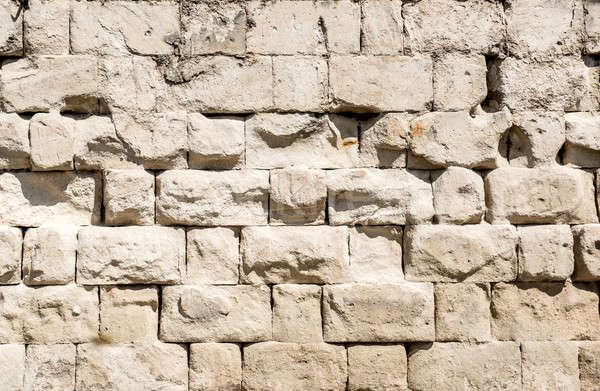 Muro di pietra costruzione costruzione sfondo pietra struttura Foto d'archivio © amok