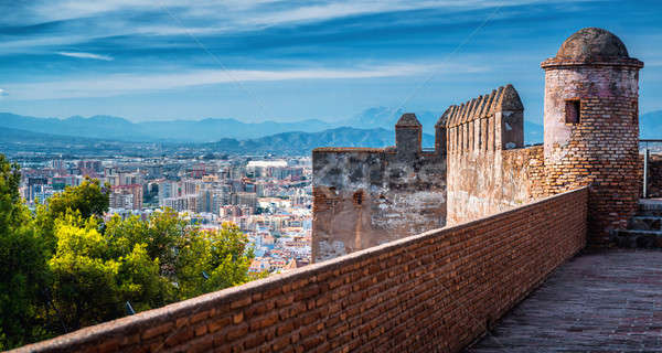 Paisaje urbano vista fortaleza edificio ciudad Foto stock © amok