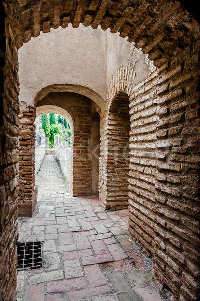 внутри крепость малага город Испания интерьер Сток-фото © amok