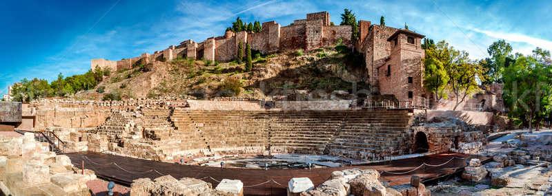 Panoramic view of Roman Theatre in Malaga. Andalusia, Spain Stock photo © amok