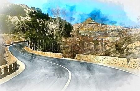 Mozzafiato view Spagna antica gothic città Foto d'archivio © amok