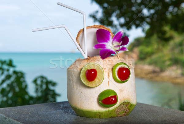 Exotic coconut cocktail Stock photo © amok