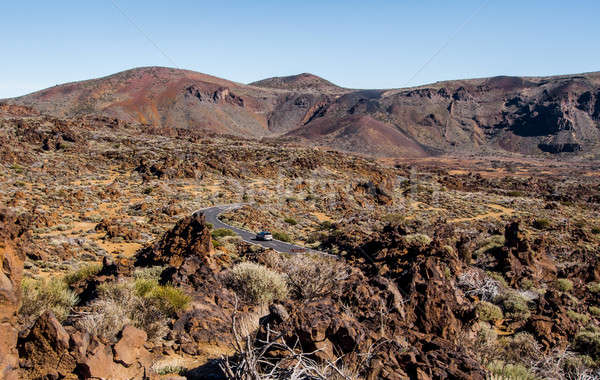 Lunar landscape of Teide National Park. Tenerife. Canary Islands Stock photo © amok