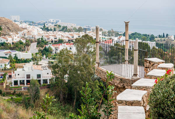 Observation deck of the Colomares castle and view of Benalmadena Stock photo © amok