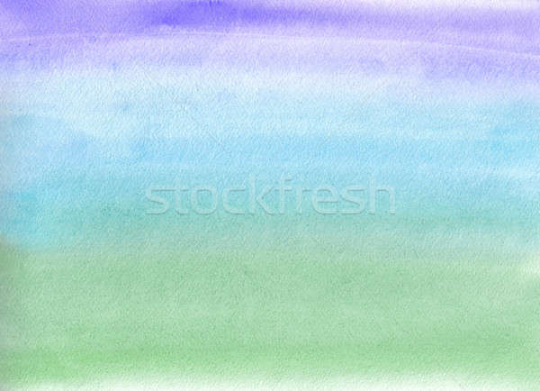 Watercolor painting. Blue and green gradient  Stock photo © amok