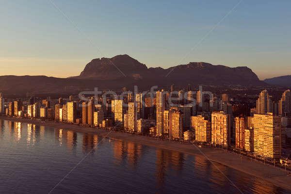 Widok z lotu ptaka miasta wygaśnięcia Hiszpania nowoczesne Zdjęcia stock © amok