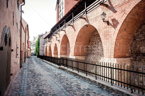 Ancient fortification wall. Old Riga,Latvia Stock photo © amok
