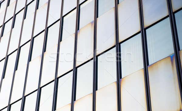Modern building detail, glass wall  Stock photo © amok