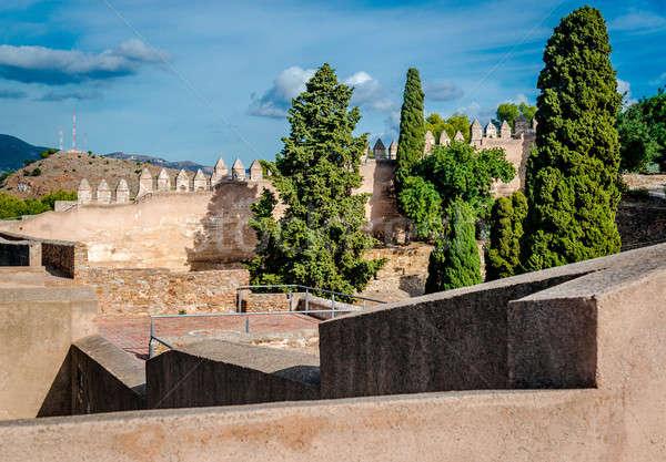 Stock photo: Gibralfaro fortress (Alcazaba de Malaga). Malaga city. Spain
