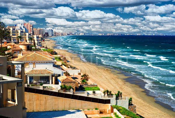 Piękna tropikalnej plaży la manga Hiszpania Zdjęcia stock © amok