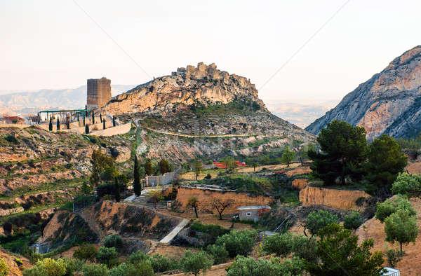 Сток-фото: замок · башни · Испания · руин
