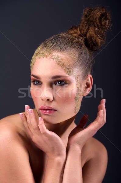 Close-up portrait of a beautiful young woman  Stock photo © amok