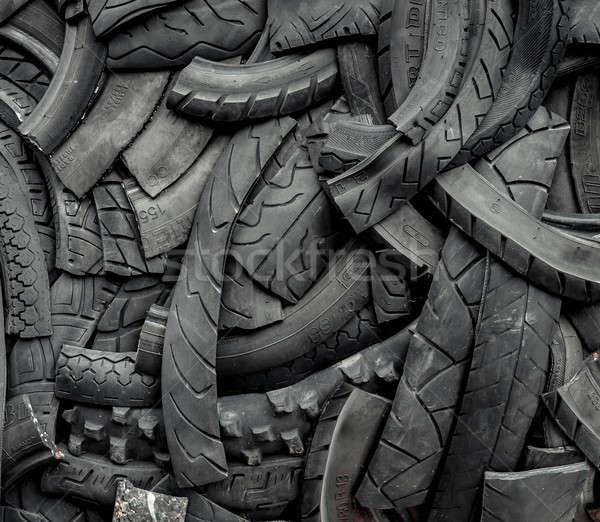 Stary samochód opony tle lata prędkości wzór Zdjęcia stock © amok