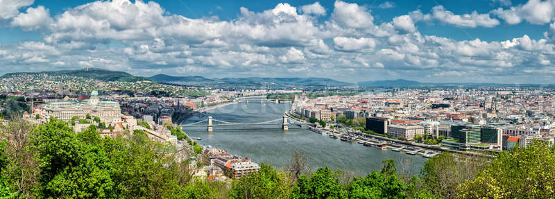 Stock photo: Panoramic view of Budapest city. Budapest, Hungary