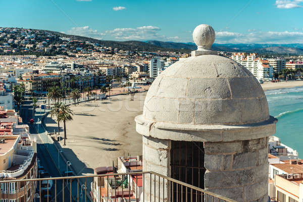 Picturesque view to the Peniscola coastline, Spain Stock photo © amok