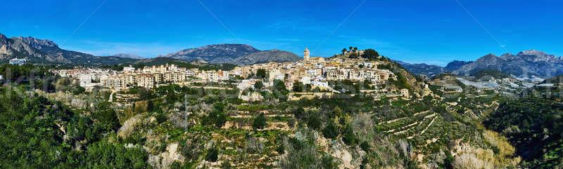 La marina village Espagne panorama espagnol Photo stock © amok