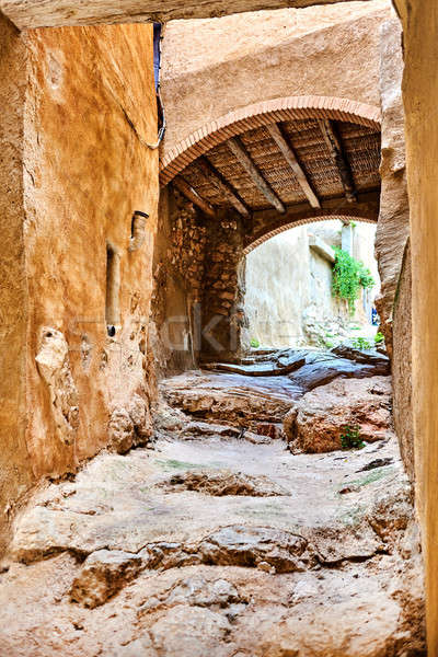 Archway in old town of Miravet, Spain Stock photo © amok
