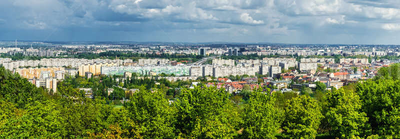 Panoramique vue Budapest Hongrie ciel Photo stock © amok