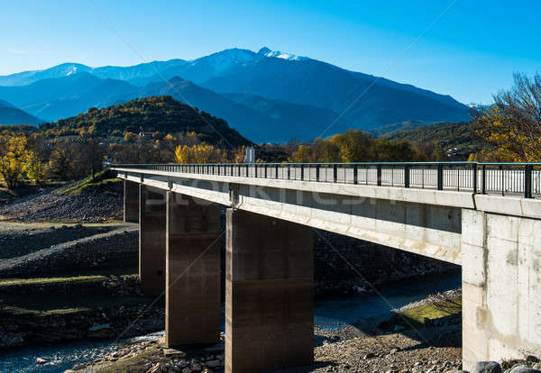 Bridge across the river in the French Pyrenees  Stock photo © amok