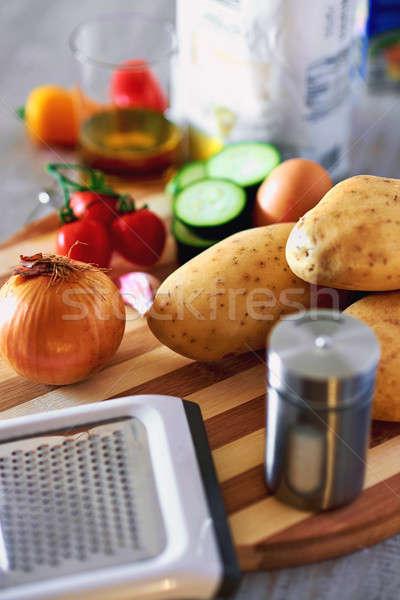 材料 ジャガイモ パンケーキ 食品 油 ディナー ストックフォト © amok