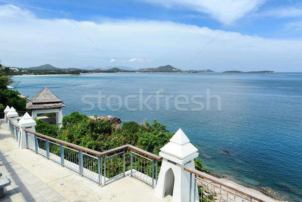Сток-фото: красивой · пейзаж · острове · Таиланд · дерево · морем