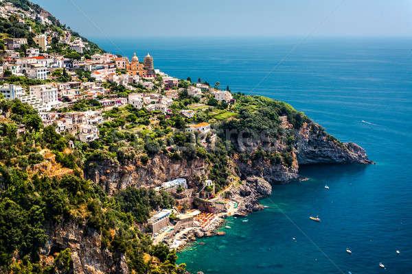 Kilátás város délnyugat Olaszország víz tájkép Stock fotó © amok