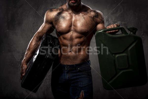 Kas adam iki Metal yakıt Stok fotoğraf © amok