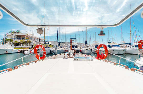 Yate arco barcos puerto vista Foto stock © amok