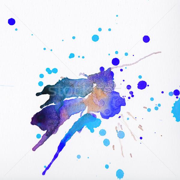 Stock fotó: Tarka · vízfesték · csobbanások · fehér · papír · textúra