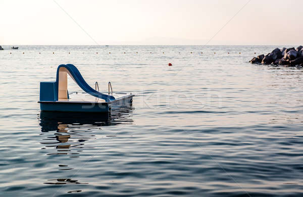 Водная горка морем фортепиано небе воды свет Сток-фото © amok