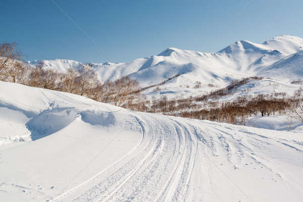 Mountain pass, route over a ridge. Kamchatka peninsula Stock photo © amok