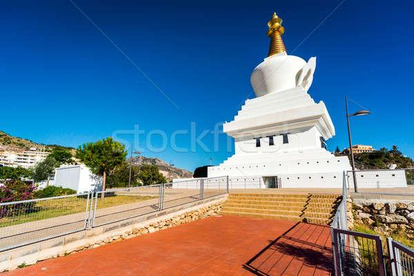 Buddhista templom város déli fürdő Spanyolország Stock fotó © amok