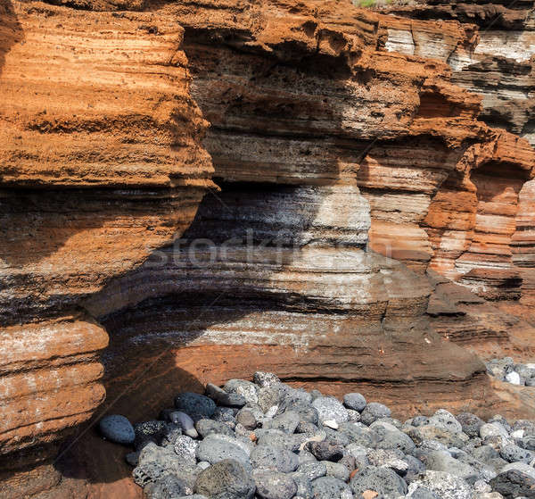 Geel berg Montana tenerife textuur Stockfoto © amok
